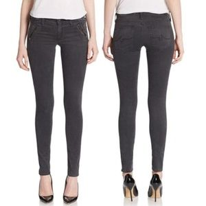 AG Goldschmied The Willow Zip Black Skinny Jeans